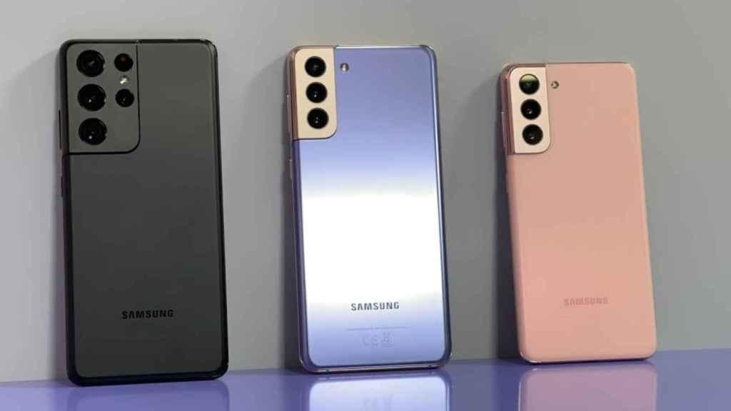 El Samsung Galaxy S21 Ultra, S21+ y S21.