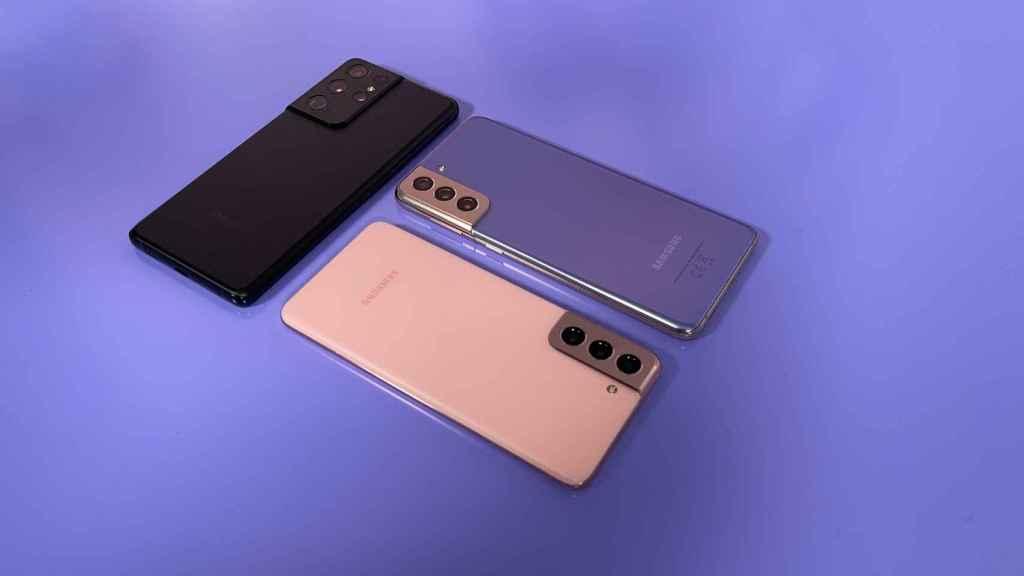 Los Samsung Galaxy S21.