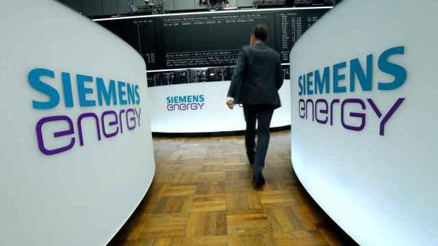 Rótulos de Siemens Energy en su debut en la Bolsa de Fráncfort.