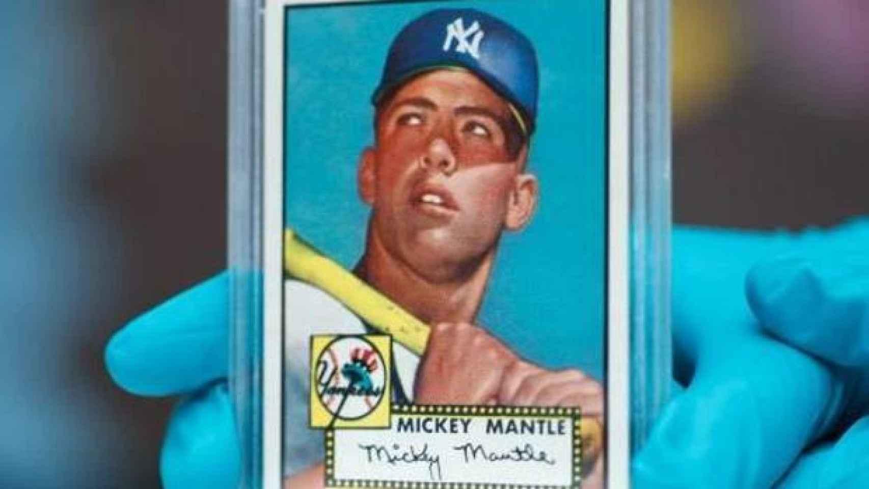 El cromo de Mickey Mantle que se ha vendido por más de cuatro millones de euros