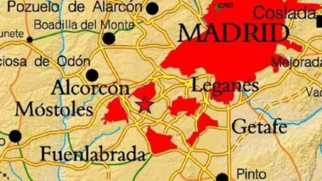 Mapa del terremoto.