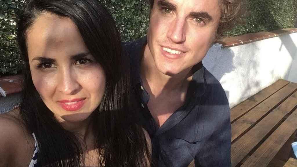 Khaterina y Jaime, en Brasil.