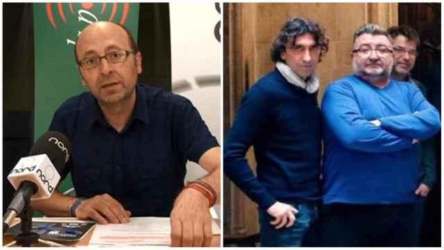 Francis Puig, Juan Adell y Enrique Adell, empresarios sancionados por conformar un cártel audiovisual. EE