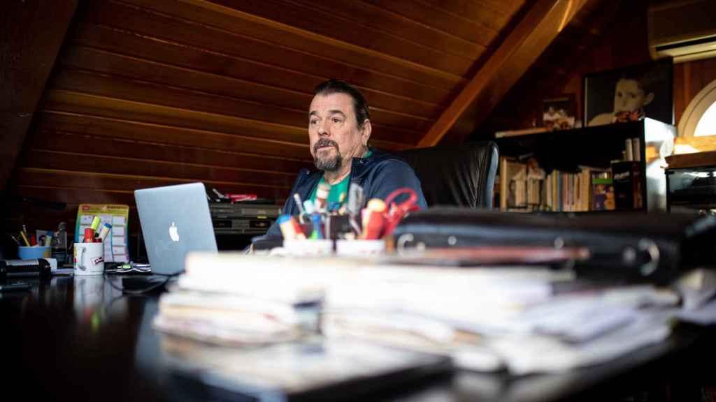 Juan Muñoz, en su casa.