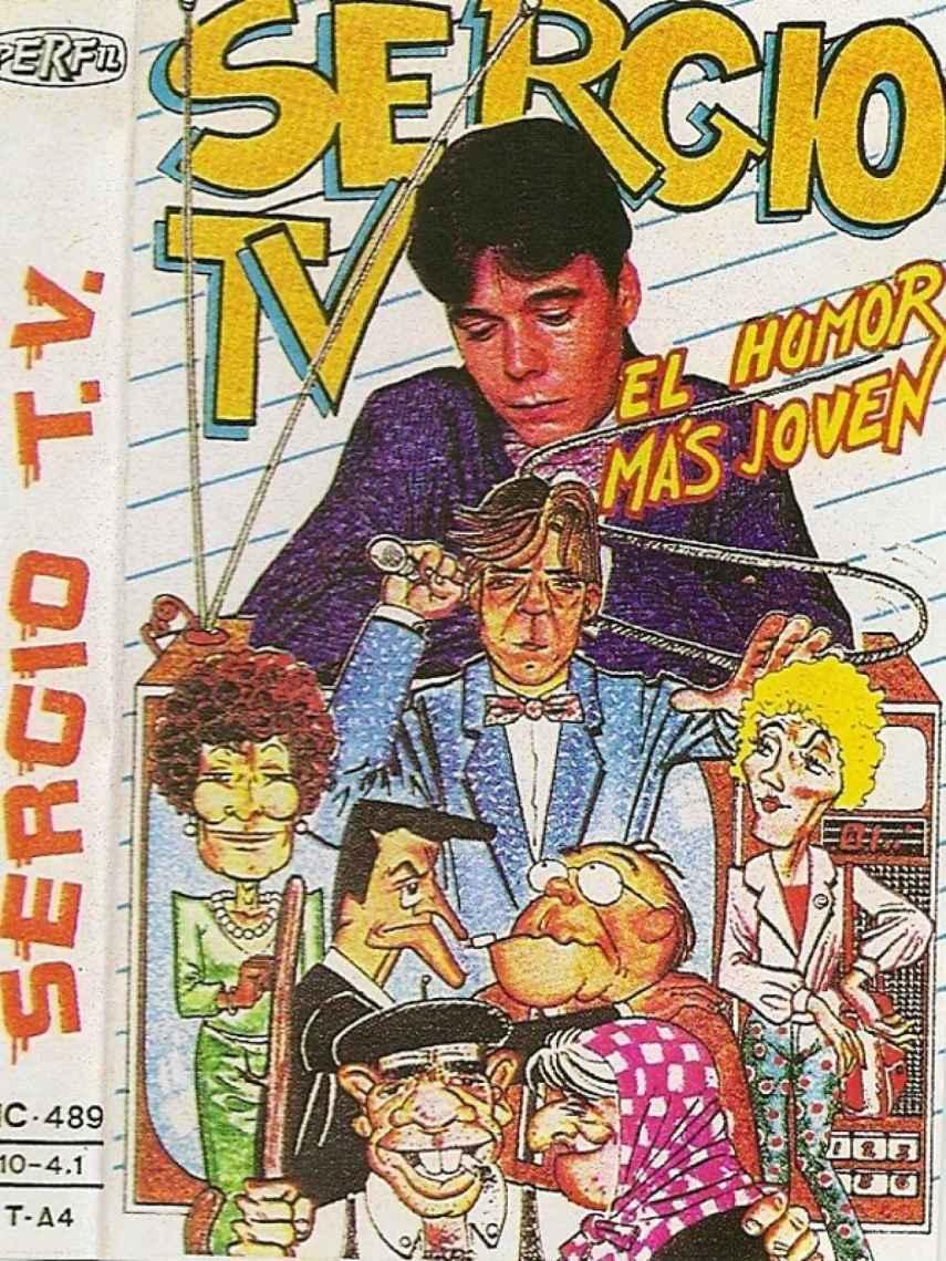 Portada de un casete de SergioTV, el pseudónimo de Juan Muñoz.