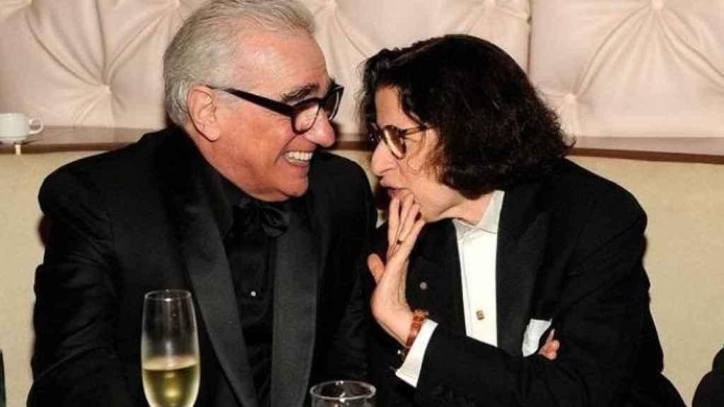 Fran con Scorsese.