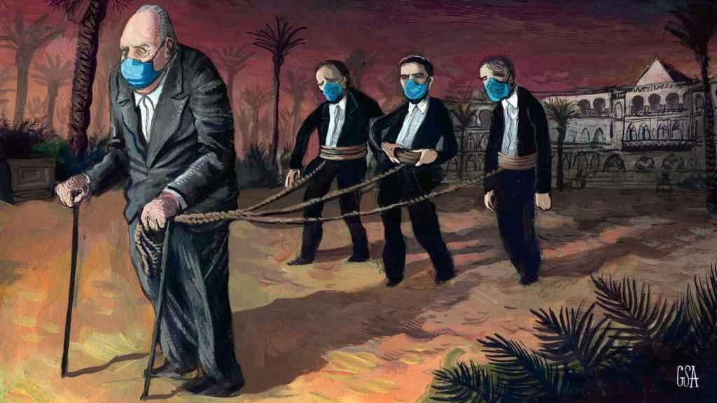 'Los 166 días en Abu Dabi de tres guardias civiles 'encadenados' a Juan Carlos en su 'autoexilio''