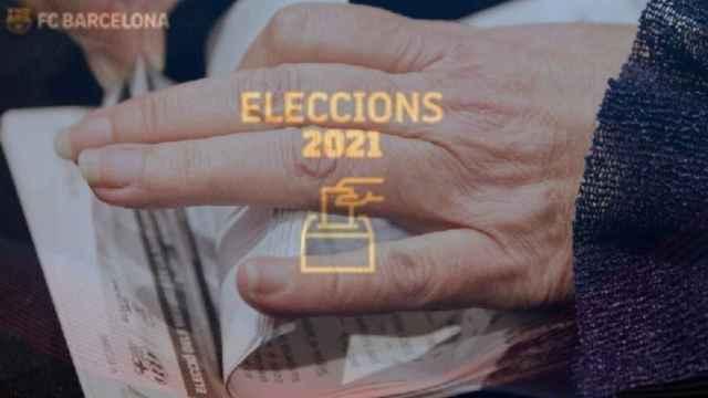 Fotomontaje de las elecciones a la presidencia del FC Barcelona