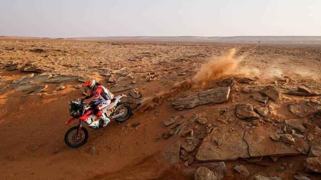 Laia Sanz en la etapa 9 del Rally Dakar