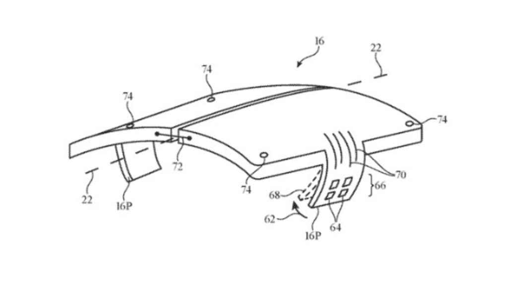 Parte de la patente de Apple.