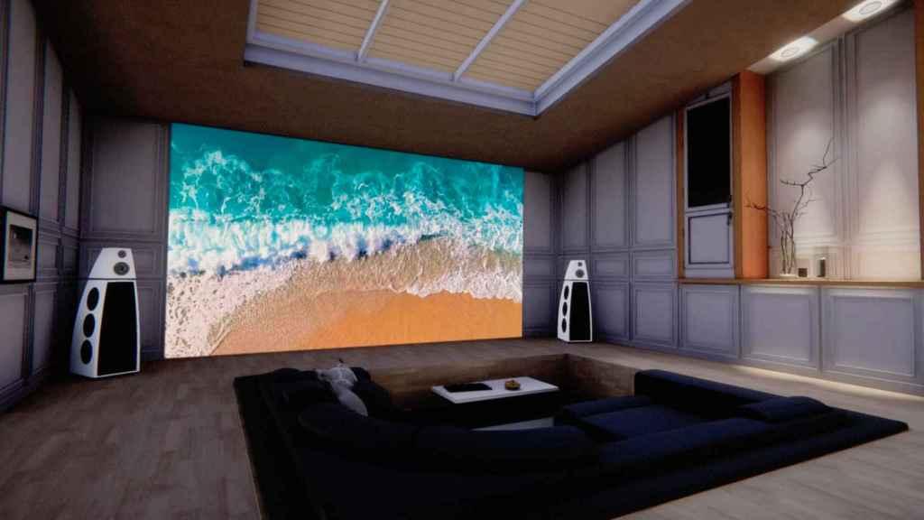 Render de televisor Micro LED de LG.