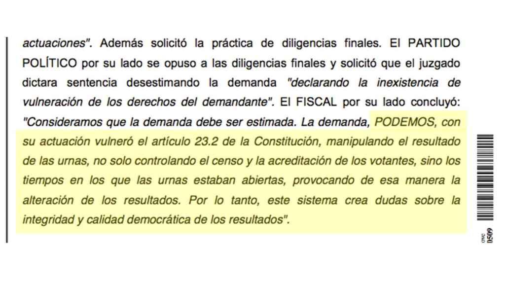 Extracto de la sentencia de Collado Villalba.