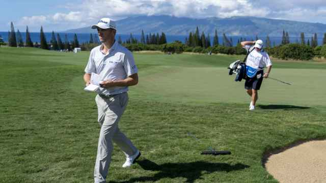 Justin Thomas, durante el Sentry Tournament of Champions