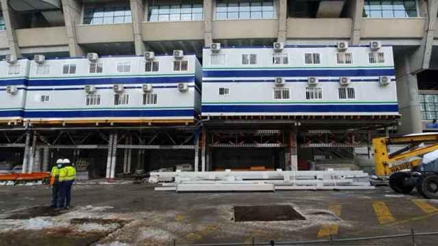 Las 'costillas' de las obras del Estadio Santiago Bernabéu
