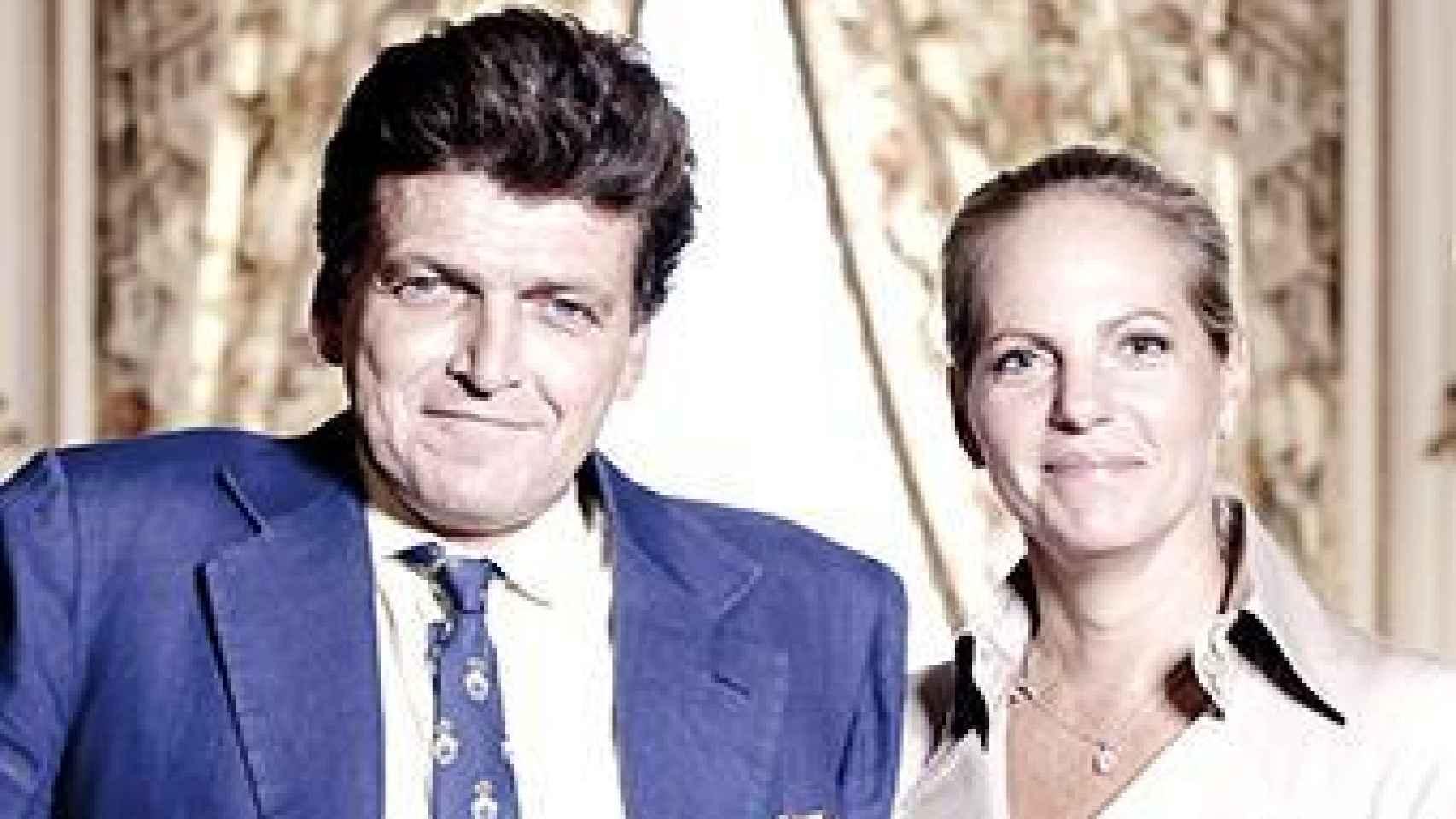 El fallecido Benjamin de Rothschild junto a Ariane de Rothschild.