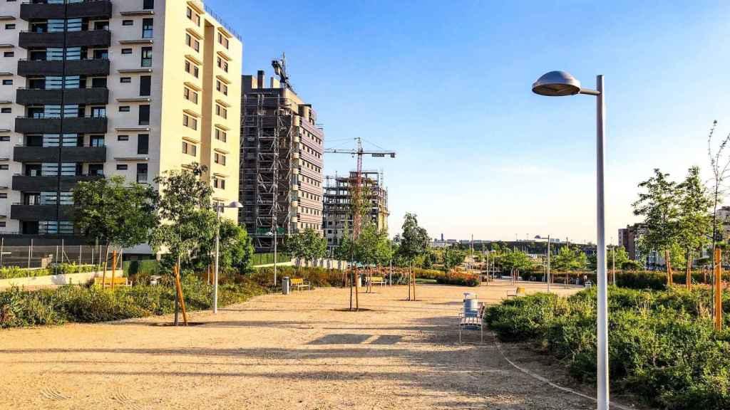Imagen del nuevo barrio de El Cañaveral, en el distrito de Vicálvaro (Madrid).