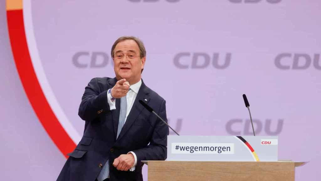 Armin Laschet, en el Congreso de la CDU.