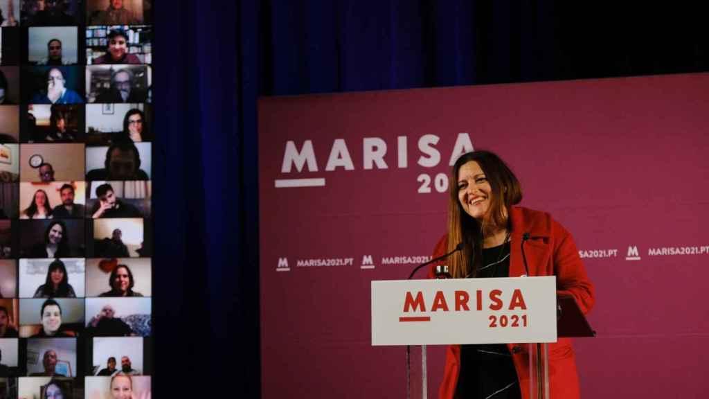 Marisa Matias, en un acto de campaña.