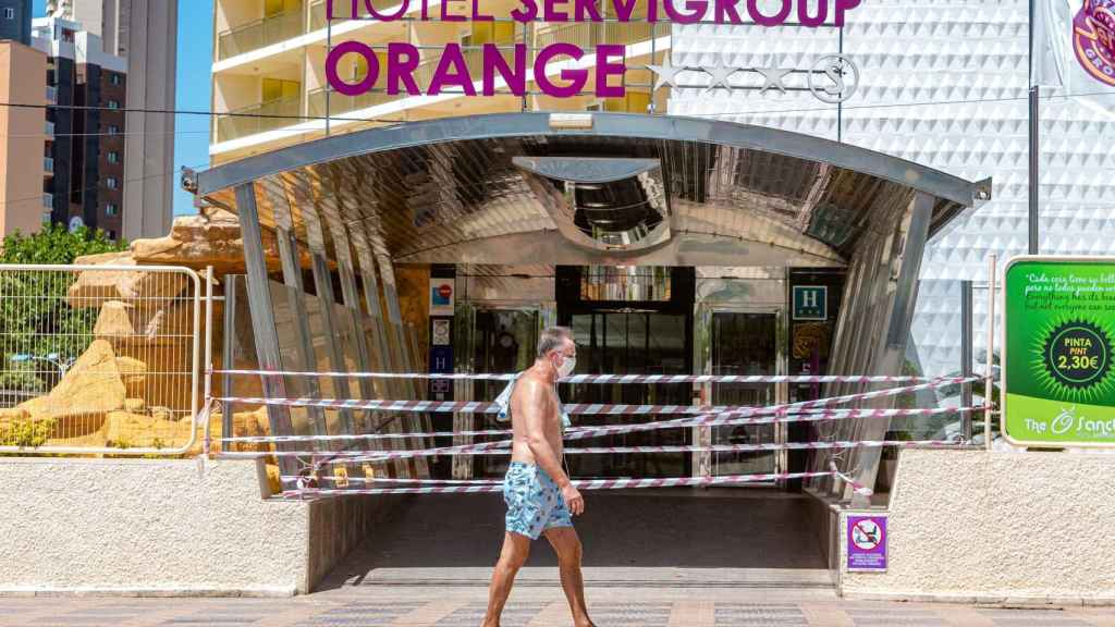En la actualidad sólo hay 11 hoteles abiertos en Benidorm.
