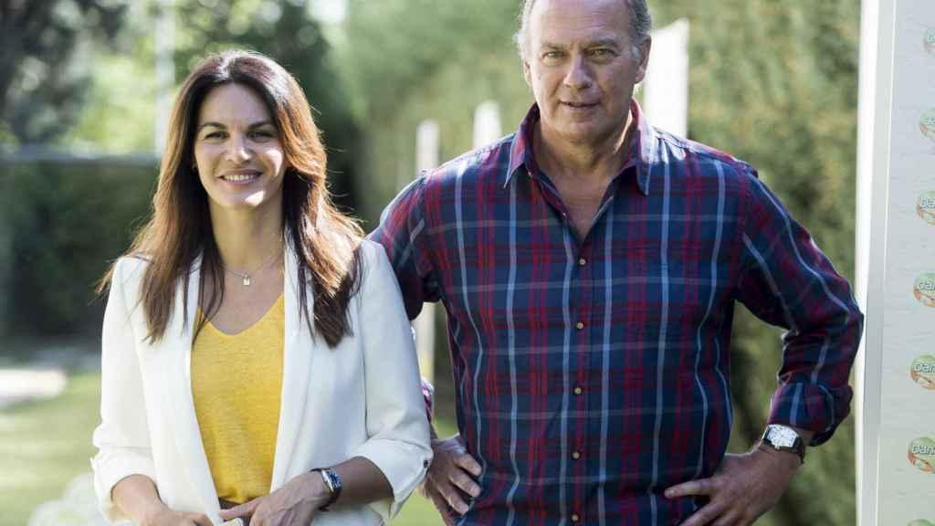 Fabiola Martínez y Bertín Osborne, durante un acto en Madrid.