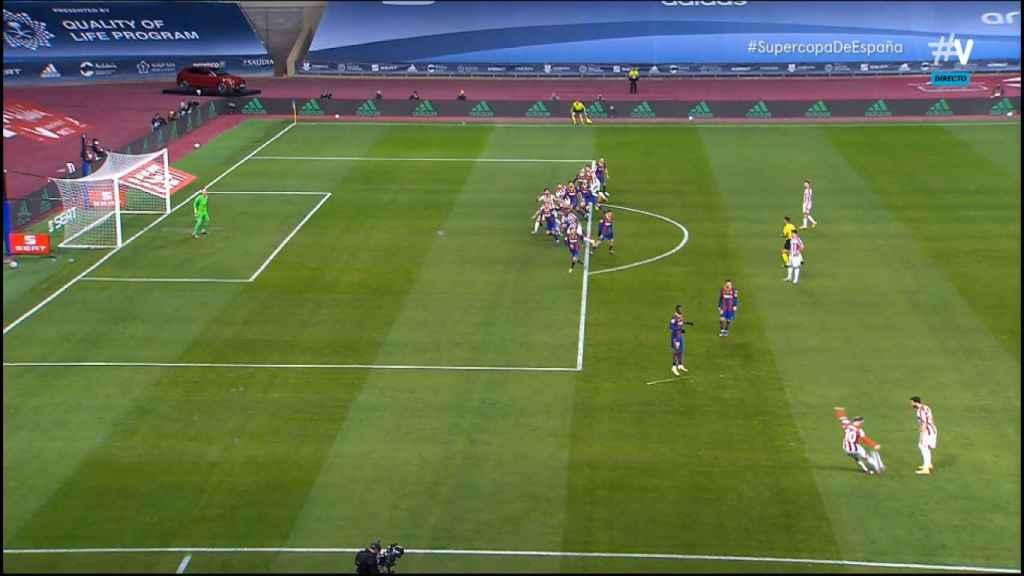 Gol de Raúl García anulado por fuera de juego contra el Barça