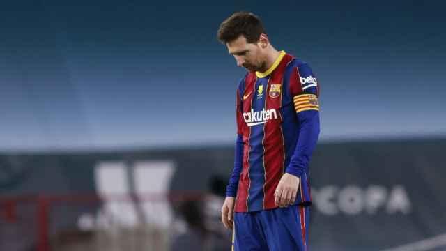 La cara de Leo Messi tras el gol de Villalibre en la final de la Supercopa de España
