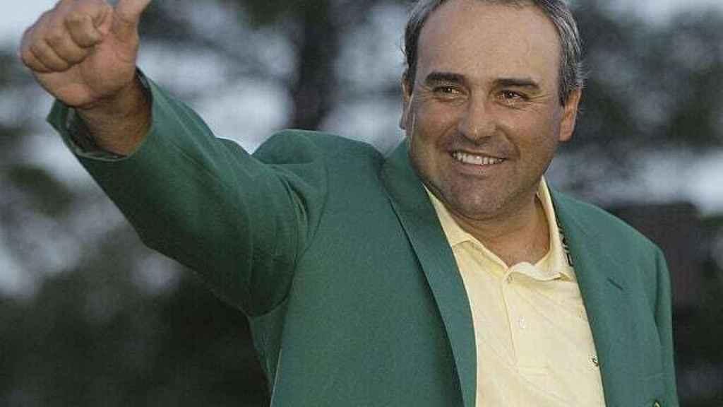 'Pato' Cabrera avec sa veste verte Augusta