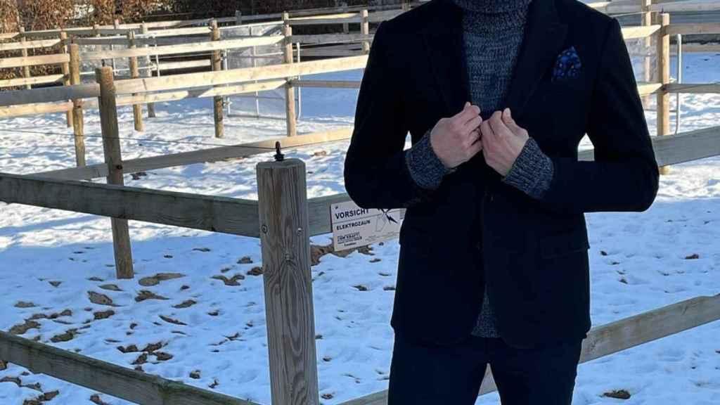 Thomas Müller, en su criadero de caballos