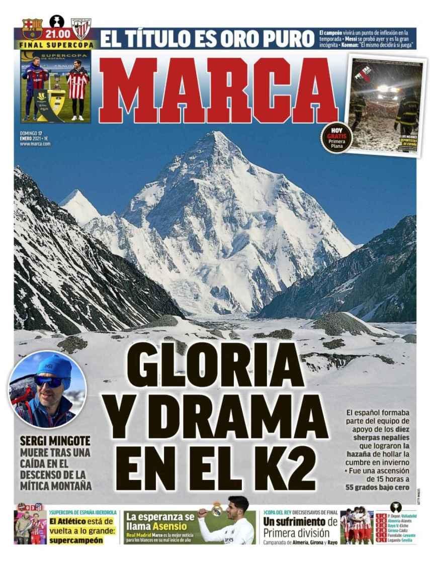 La porta del diario MARCA (17/01/2021)
