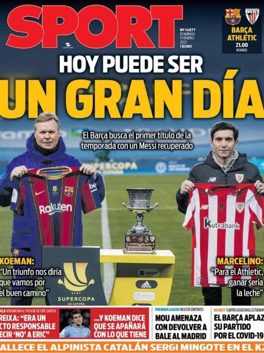 La portada del diario SPORT (17/01/2021)
