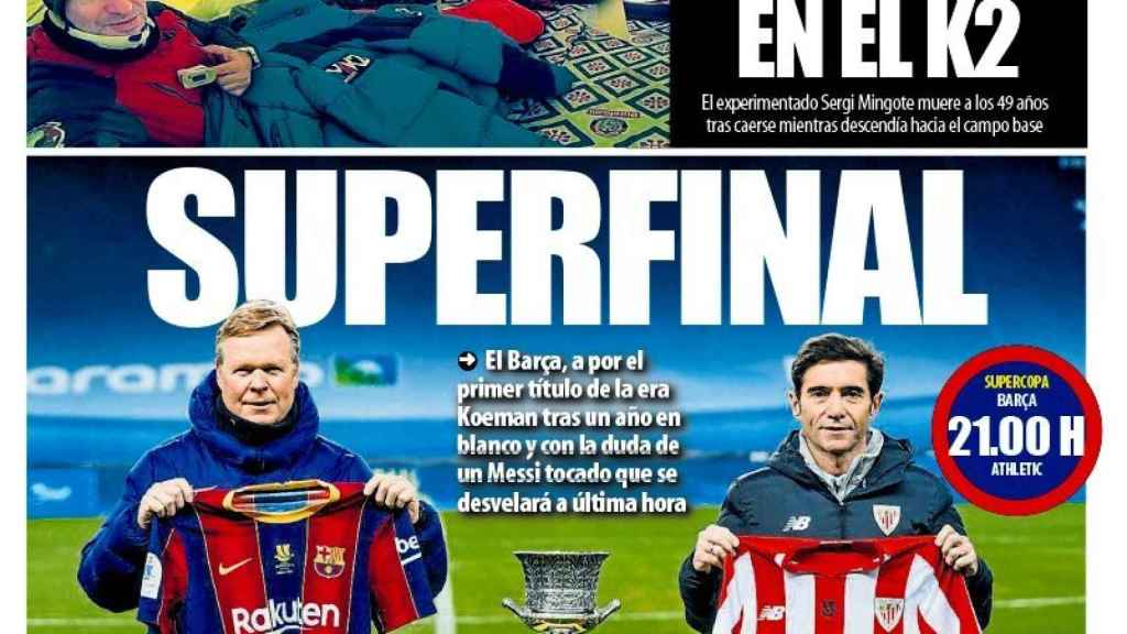 La porta del diario Mundo Deportivo (17/01/2021)