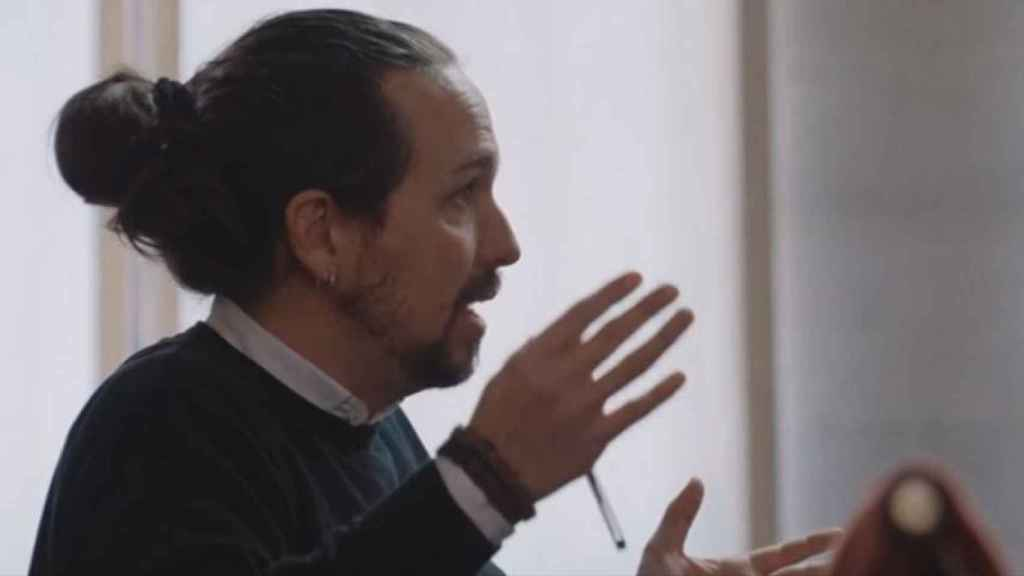 Pablo Iglesias, en un momento de la entrevista de este domingo en Salvados.