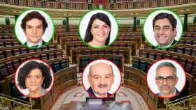 Los más currantes (Figaredo, Olona y Echániz) y los más vagos (Vallugera, Mazón y Margall) del Congreso de los Diputados.