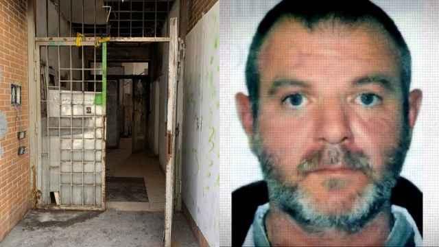 La entrada del narcobloque en el que fue visto, junto a una foto actual de él.