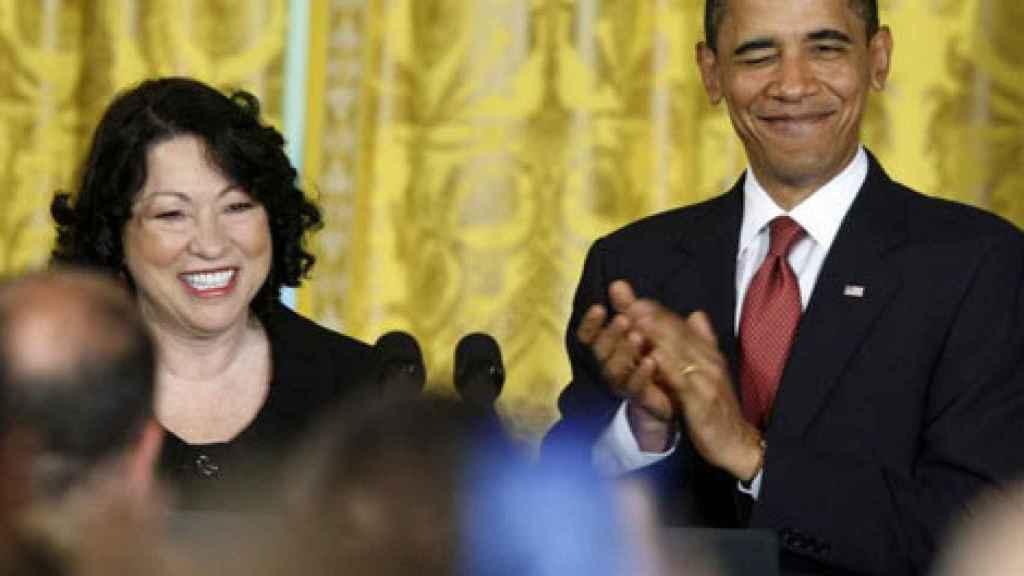Sonia Sotomayor y Barack Obama, durante su nominación como jueza al Supremo.