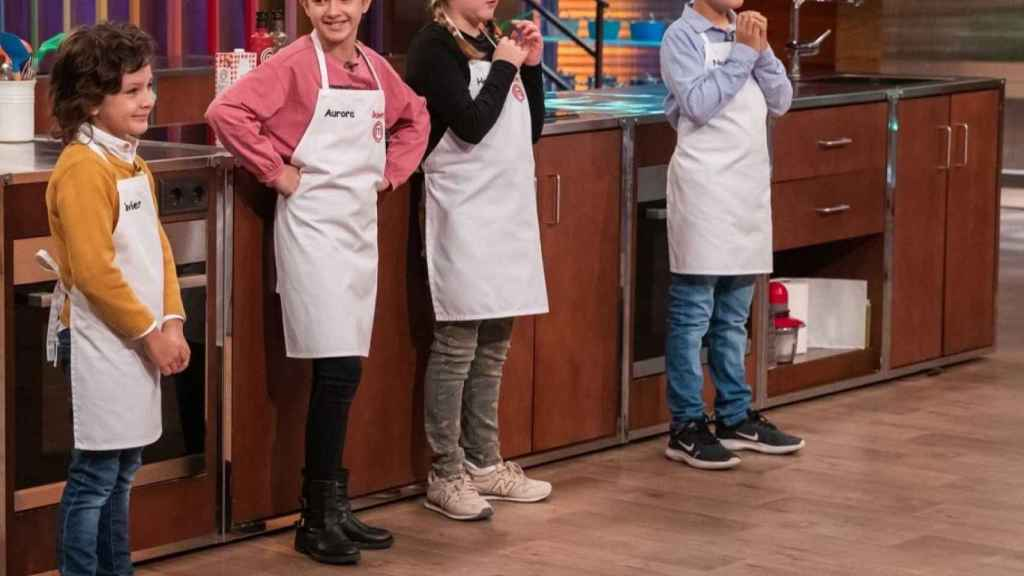 Javier, Aurora, Henar y Nico, finalistas de 'MasterChef Junior 8'.