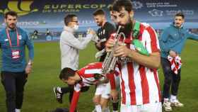 Asier Villalibre, con su trompeta