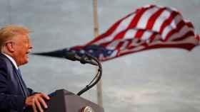 Donald Trump durante un mitin en el aeropuerto de Cecil en Jacksonville, Florida, en septiembre de 2020.