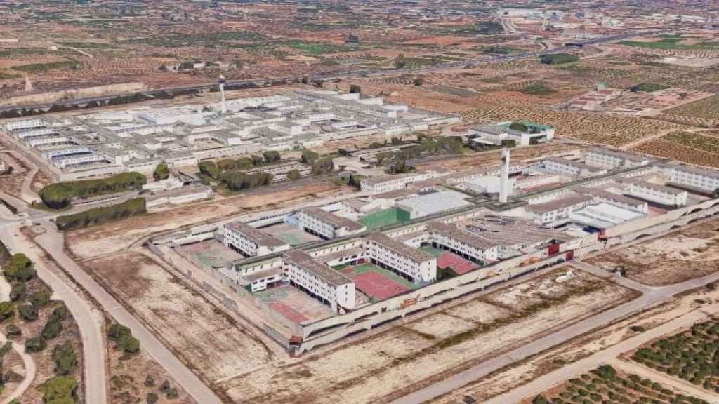 Vista aérea de la cárcel de Picassent. Google Maps