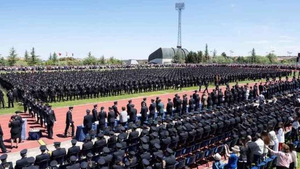 Acto de jura de los 2.593 agentes que integran la XXXIII Promoción de la Escala Básica de la Policía Nacional, en 2019 en la Escuela Nacional de Policía de Ávila.