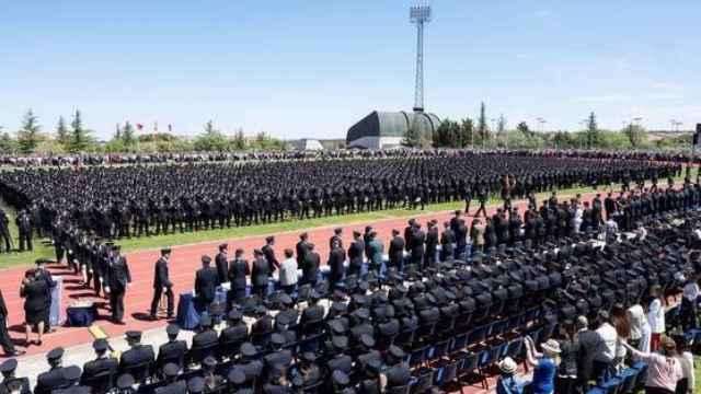 Acto de jura de la XXXIII Promoción de la Escala Básica de la Policía Nacional, en 2019.
