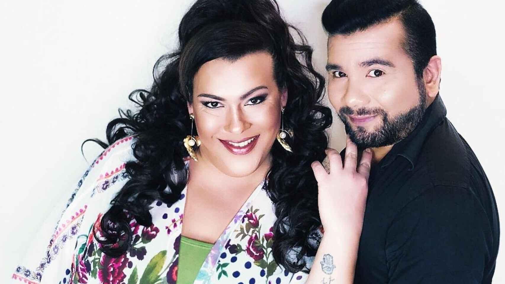Desy Rodríguez y su pareja, Luciano Ortiz.