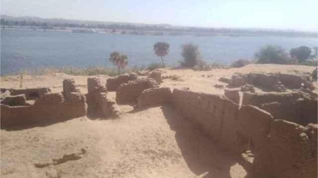 Restos del fuerte romano encontrado en Aswan.