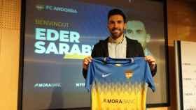 Eder Sarabia, en su presentación con el FC Andorra