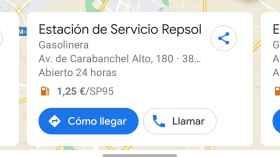 Google Maps ya te dice el precio de la gasolina en España