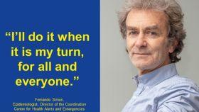 Fernando Simón es uno de los protagonistas de la campaña de vacunación de la Comisión Europea.