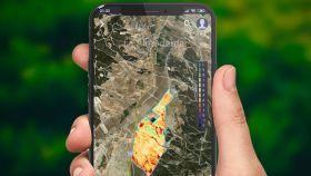 Imagen de la interfaz de información geográfica de Auravant
