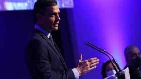 El presidente del Gobierno, Pedro Sánchez, en la 113 reunicón del Consejo Ejecutivo de la OMT.