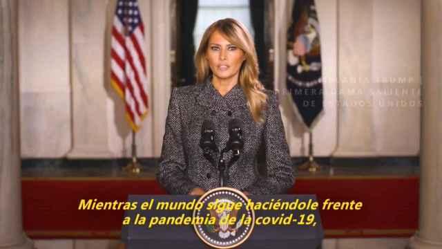 El mensaje de despedida de Melania Trump.