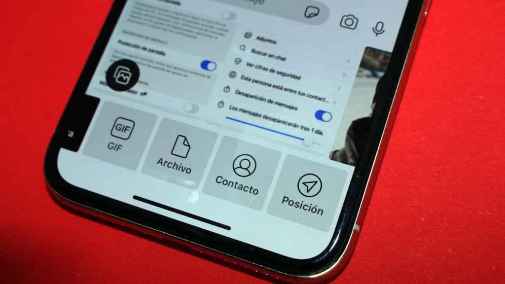 Signal ofrece la opción de compartir una gran variedad de archivos.